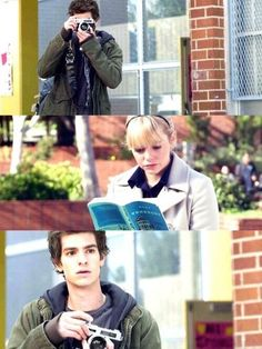 Peter Parker and Gwen Stacy played by Andrew Garfield and Emma Stone in The Amazing Spider-Man