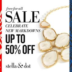 Free For All SALE. Celebrate New #stelladot Markdowns up to 50% off. Shop Now!