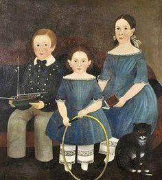Blue - Azul - children - crianças - colonial portraits