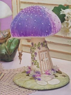 So cute - mushroom pincushion! :)