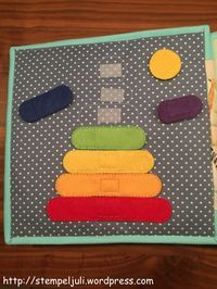 Quiet Book naehen DIY Filz Stoff Puzzle Farben Formen