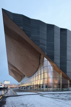 Kilden Performing Arts Centre, atheatre and concert hall in Kristiansand, Norway,by Ala Architects