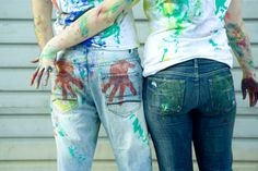 draw with me, paint fight couple's engagement photos -hmmm. I almost like this idea better than the trash the dress (only because of the money involved lol) Save The Date Pictures, Funny Couple Pictures, Love Photos, Engagement Shots, Engagement Couple, Engagement Pictures, Engagement Ideas, Couple Posing, Couple Shoot