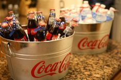 Baseball Baby shower drinks- classic coca cola in a bottle
