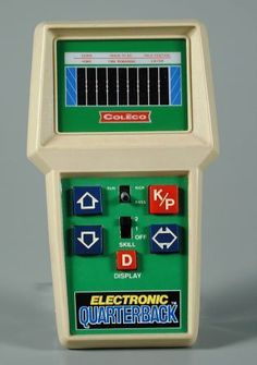 Coleco Electronic Quarterback, real football...well, as real as a few LED dashes can mimic football.