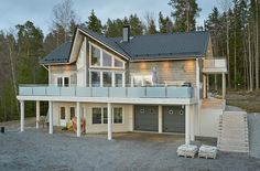 Hirsitalo Ahtola - Kuusamo Hirsitalot Style At Home, Mansions, House Styles, Home Decor, Modern Architecture, Detached House, Homes, Mansion Houses, Decoration Home