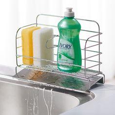 水が流れる洗剤スポンジラック スリム 通販 【ニッセン】 キッチン用品・調理器具 水切りかご(ラック)