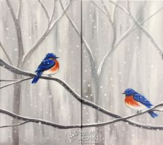 Bluebirds in the Snow | Creatively Uncorked | http://creativelyuncorked.com | Creatively Uncorked | http://creativelyuncorked.com