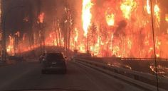 Fleeing the wild fire in Fort McMurray, Alberta Canada. Fort Mcmurray, Ju Jitsu, Into The Fire, Life Is Strange, Tumblr Boys, Insta Photo, Earth, In This Moment, Album