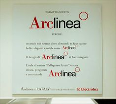 Arclinea & #Eataly   The world's biggest Eataly is in Rome: and as in New York and Genoa, again in Rome Arclinea is behind the project for the huge Cookery School classroom and furnishes the two in-store areas dedicated to tasting with Vina, the wine storage unit. #cooking #chef #designfood