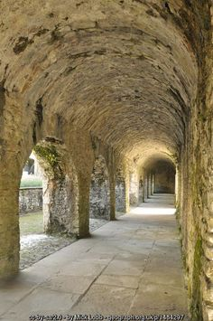 :: The Cloisters - Aberglasney House, near to Llangathen, Carmarthenshire/Sir Gaerfyrddin, Great Britain by Mick Lobb Wales Uk, South Wales, Great Places, Places To See, Welsh Castles, Welsh English, Medieval World, Ancient Buildings, The Cloisters