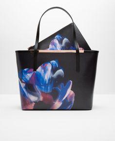 Cosmic Bloom leather shopper bag