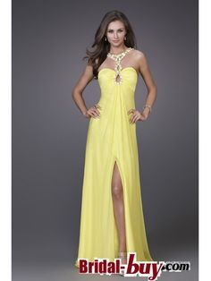 Buy Custom Made High Quality 2012 Affordable Unique Sheath Sweetheart Ruched Rhinestones Long Yellow Prom Dresses Under 200 PD-7098 at wholesale cheap prices from Bridal-Buy.com