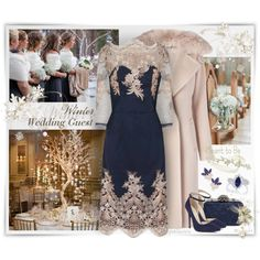 Winter Wedding Guest ~ Chi Chi London by pwhiteaurora on Polyvore also featuring Diane Von Furstenberg, Nine West, Glint, & Lady Fox ~ created 2-23-2017