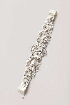 301- Paige Lux Rhinestone Sash- crystal sash, rhinestone sash, wedding sash, bridal belt. via Etsy.