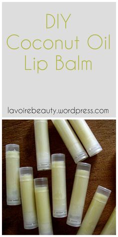 DIY Coconut Oil Lip Balm | all-natural