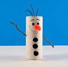 DIY Toilet Paper Roll Olaf | AllFreeHolidayCrafts.com