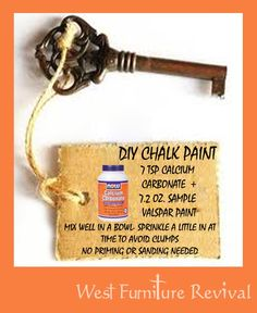 Chalk Paint Recipe | West Furniture Revival: DIY Chalk Paint Recipe. You should see the ...