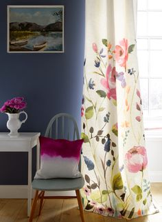 Beautiful watercolor fabrics from Bluebellgray
