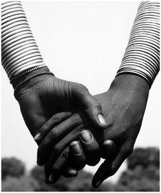 Herb Ritts - Nandoye & Nangini, Hands Joined, Africa, 1993