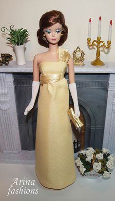 Interested in all things Barbie? Visit the official Barbie Signature Forums and participate in unique conversations you won Barbie Dress, Barbie Clothes, Les Kennedy, Jackie Kennedy, Barbie Wardrobe, Moda Retro, Yellow Gown, Poppy Parker, Vintage Barbie Dolls