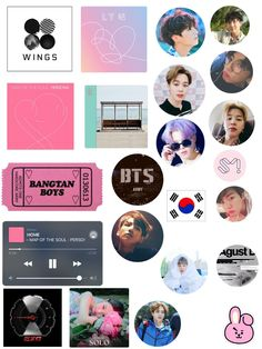 mold for making BTS and exo stickers. Exo Stickers, Tumblr Stickers, Printable Stickers, Cute Stickers, Journal Stickers, Planner Stickers, Bts Tickets, Bts Book, Kpop Diy