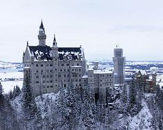 Castles in Germany. (I was born in Germany, I would love to go back there one day. I was too little to really get to see anything.) Unrelated: this reminds me a bit of the shining...