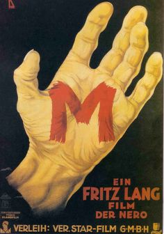 M 1931 Poster ... Posters on Pinterest   Old Movies, Movie Posters and Vintage Movie