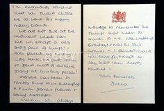 Princess Diana letter about William.