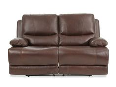 Prime Resources Chase Leather Brown Power Loveseat