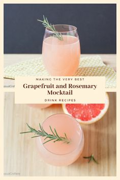 Nonstop Mindblowing Healthy Juices To Make Weight Loss Easy Drink Recipes, Nut Recipes, Dinner Recipes, Healthy Juices, Healthy Drinks, Mocktail Drinks, Rosemary Simple Syrup, Grapefruit, Vegan Vegetarian