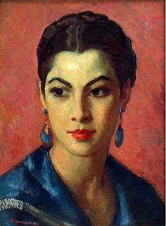 "post-impressionism: "" Portrait of a Woman Mischa Askenazy "" Foto Portrait, Female Portrait, Portrait Art, Woman Portrait, Portrait Paintings, Art Paintings, Woman Painting, Figure Painting, Painting & Drawing"
