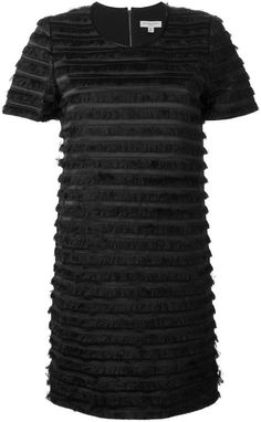 Burberry layered fringe dress
