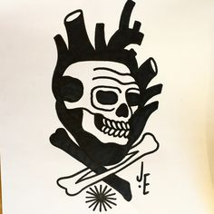 Cœur Skull, Tattoos, Art, Drawings, Craft Art, Tatuajes, Tattoo, Kunst, Gcse Art