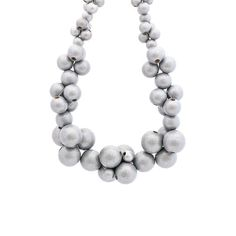 Your place to buy and sell all things handmade Cluster Necklace, Pearl Necklace, Beaded Necklace, Wooden Bead Necklaces, Wooden Beads, Bubbles, Buy And Sell, Pearls, Silver