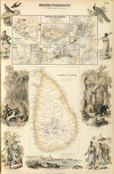 Ceylon - 1872 (Fullarton Atlas)