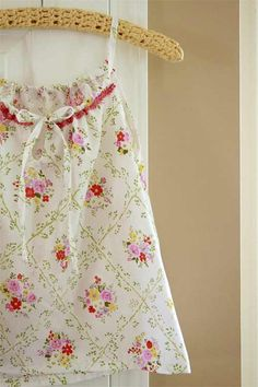 Pretty nightgowns made from vintage sheets - I have these sheets!