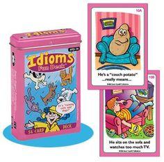 Idioms Fun Deck Cards - Super Duper Educational Learning Toy for Kids Super Duper® Publications http://smile.amazon.com/dp/1586500872/ref=cm_sw_r_pi_dp_sv6Vvb1649A2K