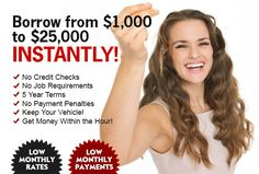 Lowest interest rate car title loans in Canada. We beat any interest rate on a car title loan that you get from another lender.