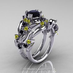 Nature Classic 14K White Gold 1.0 Ct Black by DesignMasters