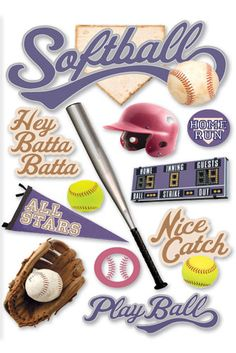Softball; paper house production; $3.99