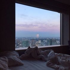 city, bed, and grunge image