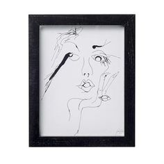 Decorate a wall with the pretty sketched woman art print from the Danish brand Bloomingville. The art print has a sophisticated motif in black and white with a feminine touch. Combine the art print with other trendy interior details from Bloomingville to decorate your home with! Choose between different variants.