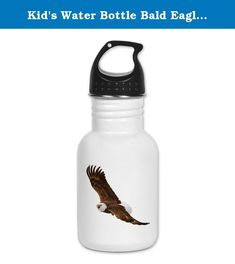 Kid's Water Bottle Bald Eagle Flying. Product Number: 0001-1613622617 Perfect for school lunches or soccer games, our kid's stainless steel water bottle quenches children's thirst for individuality. Personalized for what kids love, it's both eco-friendly and compact. Made of 18/8, food-grade stainless steel. * No lining & no BPA or other toxins * Wide mouth for easy drinking * Durable, BPA-free & phalate-free screw-on top * Holds 0.35L (nearly 12 ounces) * Thin profile to fit most cup...
