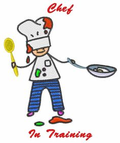 Chef In Training embroidery design
