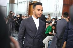 View image on Twitter  Louis Vuitton        ✔ @LouisVuitton Follow .@LewisHamilton at yesterday's the #LouisVuitton Men's #LVFall Show from @mrkimjones  11:39 AM - 23 Jan 2015. Paris Fashion Week 2015.