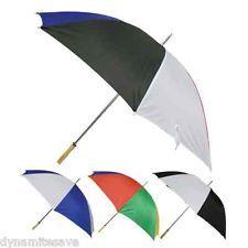 LARGE MEN LADIES STRONG GOLF UMBRELLA  BIG RAIN BROLLY BNew