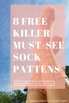8 Must-See Absolutely Free Sock Knitting Patterns – Tributary Yarns & This Knitted Life - babysocken sitricken Knitting Stitches, Knitting Socks, Free Knitting, Baby Knitting, Beginner Knitting, Crochet Socks, Knit Socks, Knit Slippers, Crochet Granny