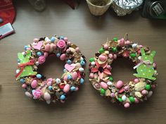 SofiTive- wreath, spring, eggs, easter, door decoration, decoration, DIY, bunny