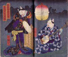 Utagawa Yoshitora 歌川芳虎from Kogane no hana neko no me katsura 鐄花猫目鬘